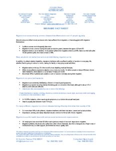 Migraine information